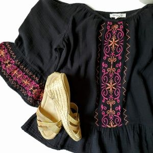 beachlunchlounge   Embroidered Off Shoulder Blouse
